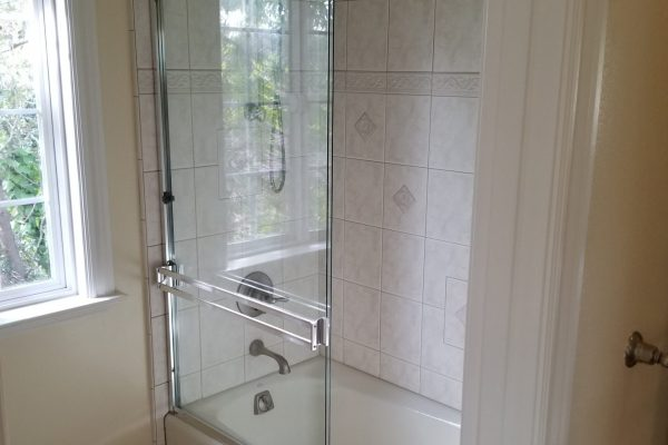 Upstairs Shower over Tub
